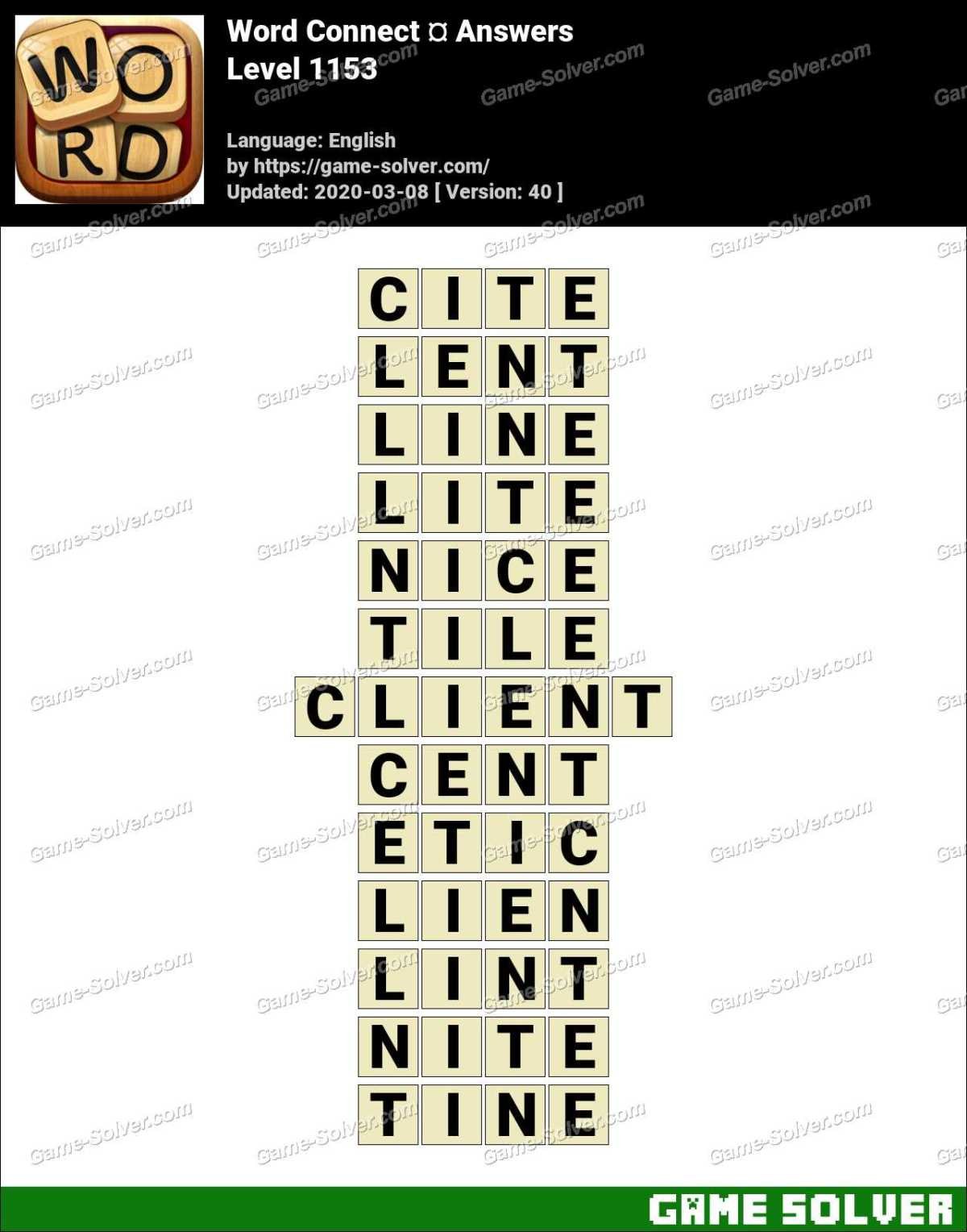 Word Connect Level 1153 Answers