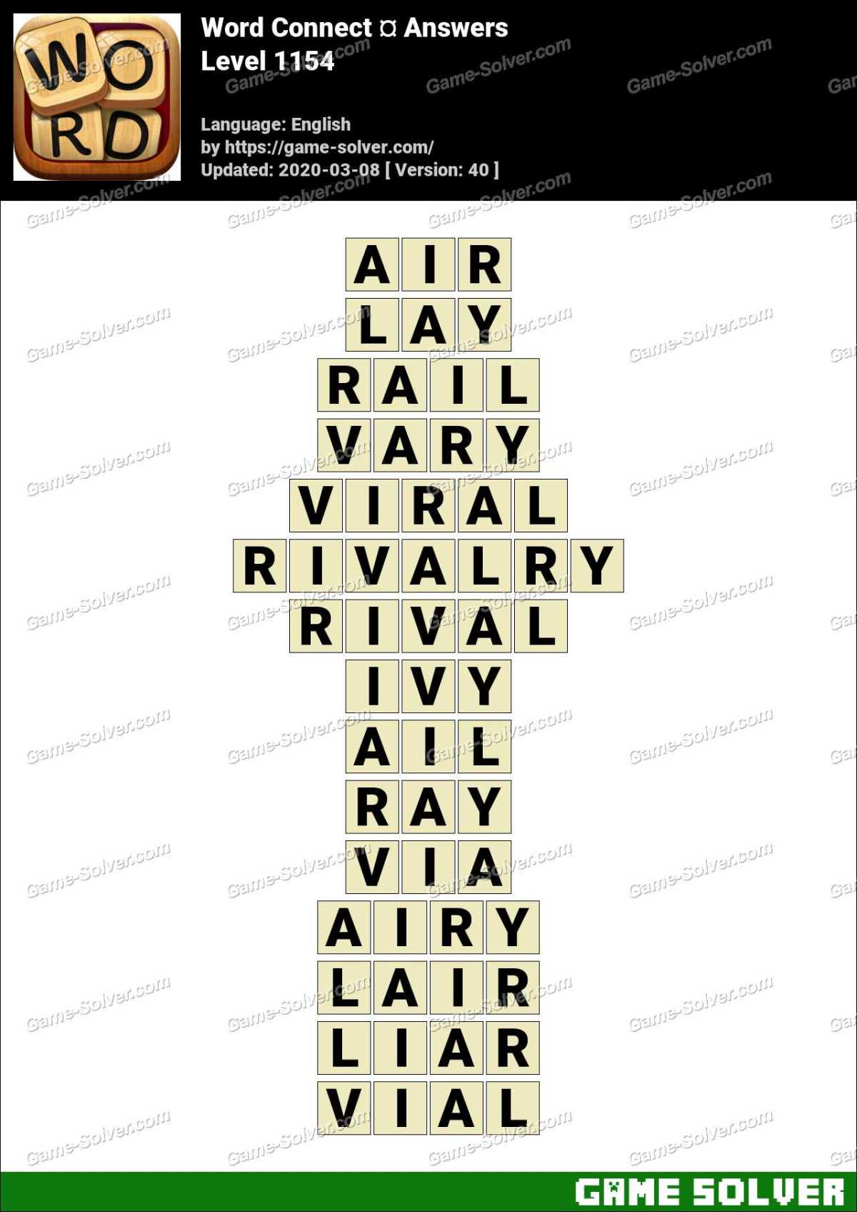 Word Connect Level 1154 Answers