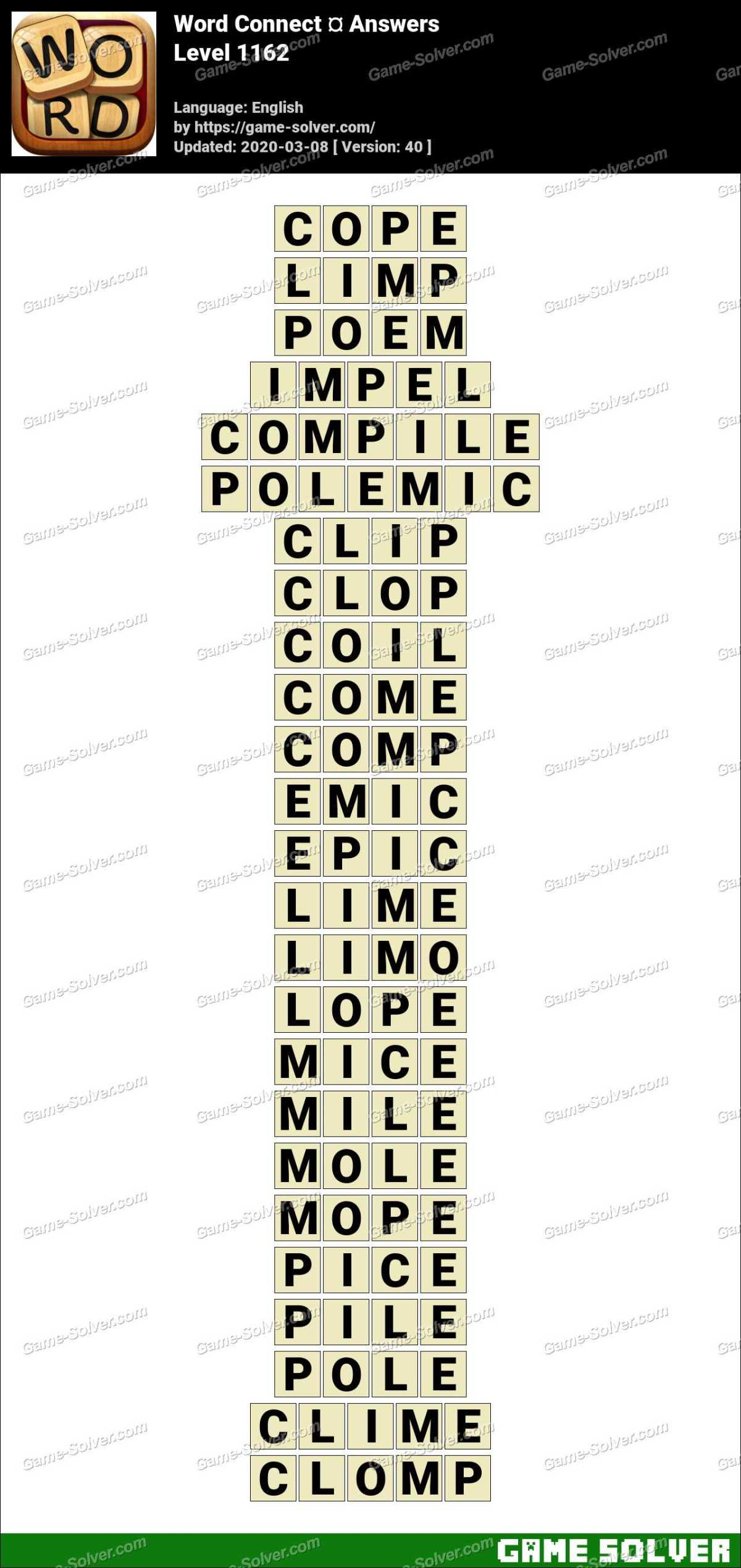 Word Connect Level 1162 Answers