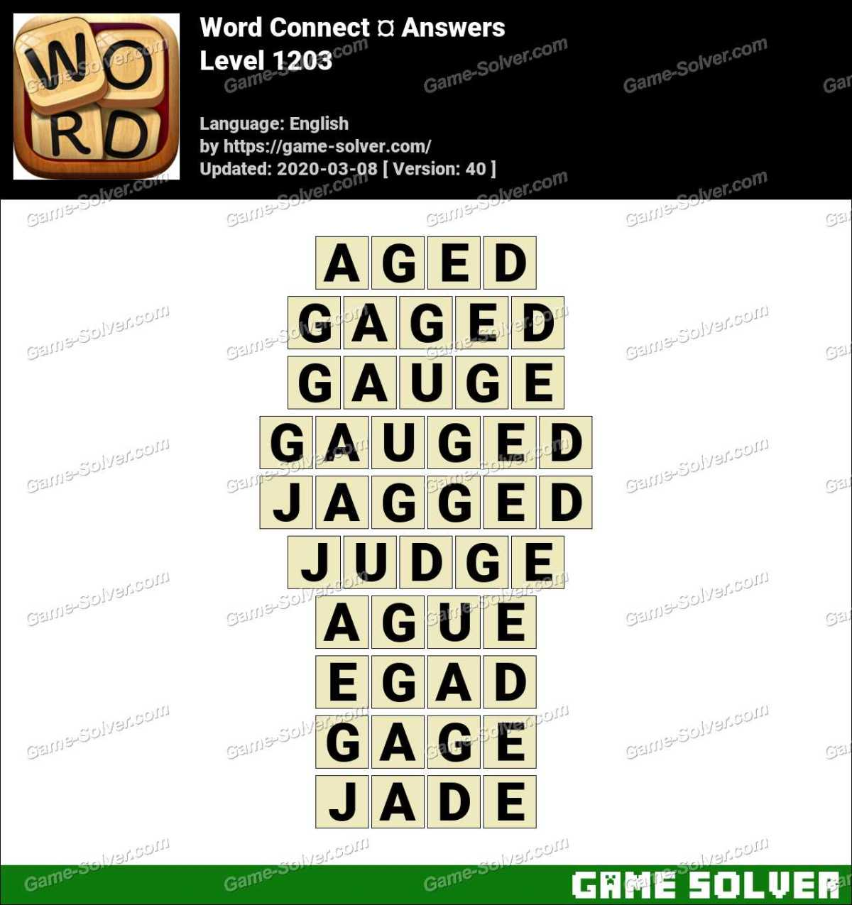 Word Connect Level 1203 Answers
