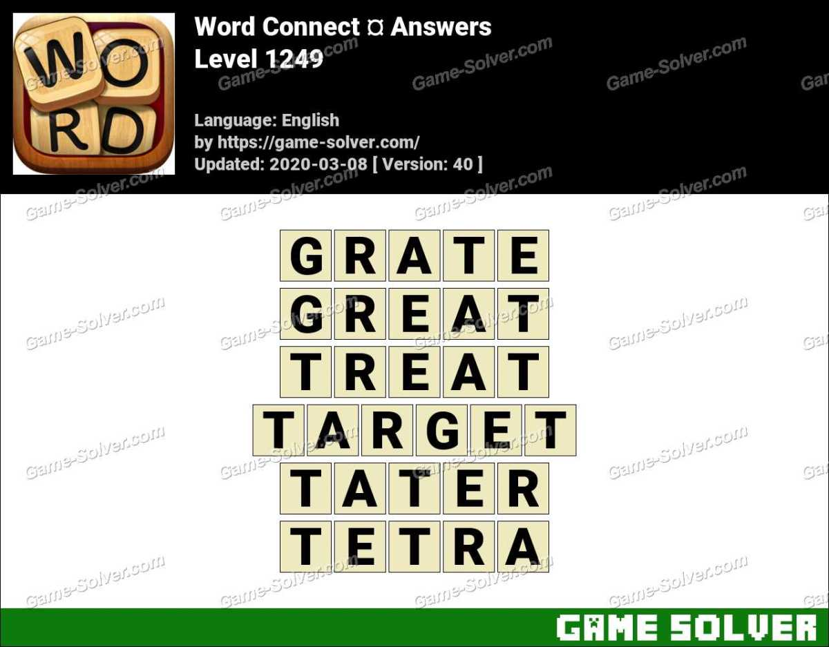 Word Connect Level 1249 Answers