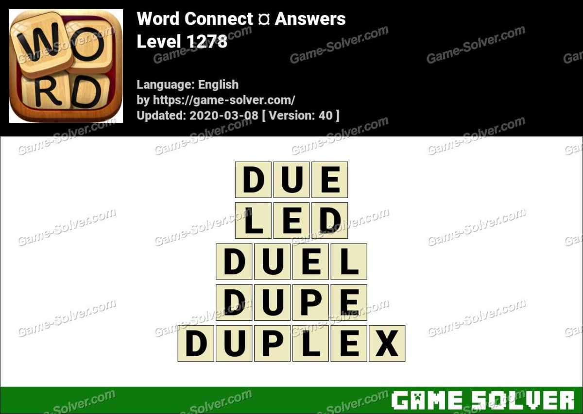 Word Connect Level 1278 Answers
