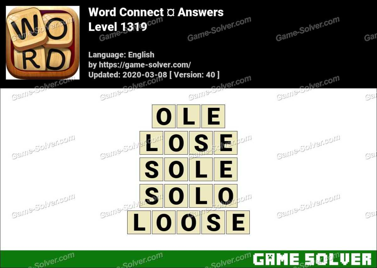 Word Connect Level 1319 Answers