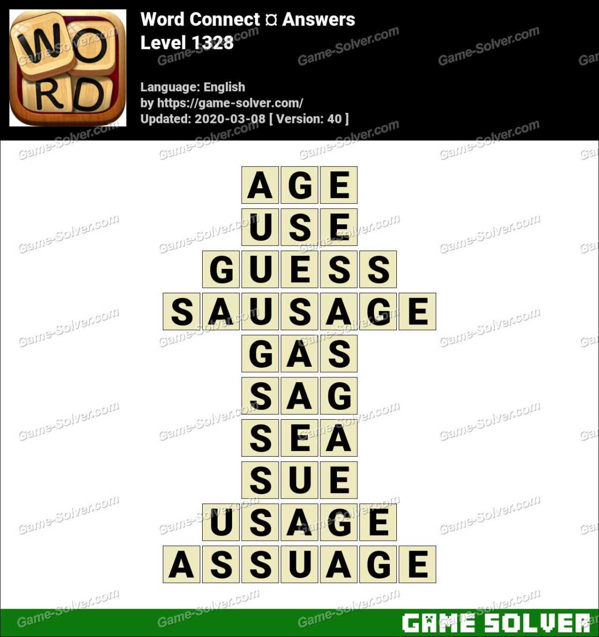 Word Connect Level 1328 Answers