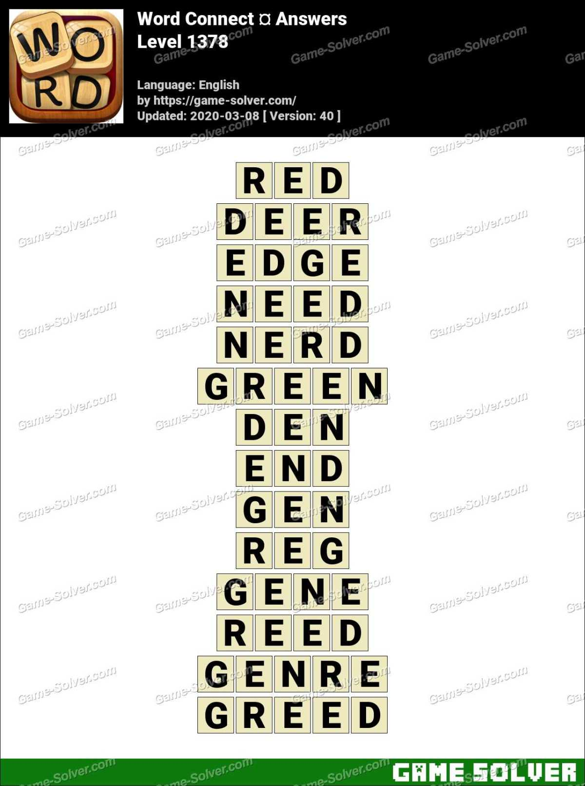 Word Connect Level 1378 Answers