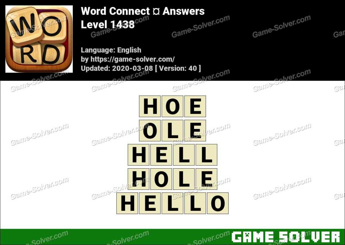 Word Connect Level 1438 Answers