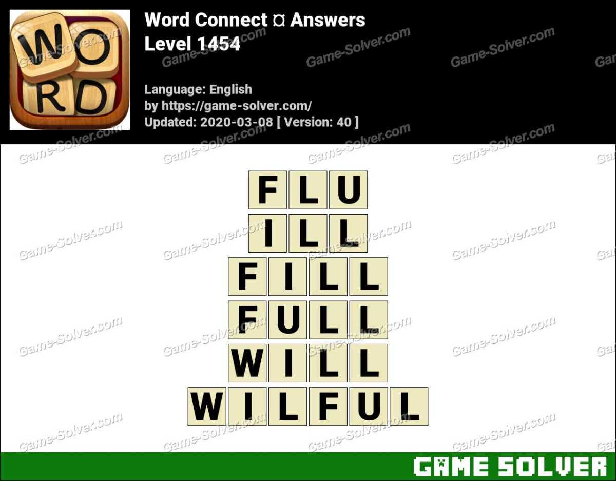 Word Connect Level 1454 Answers