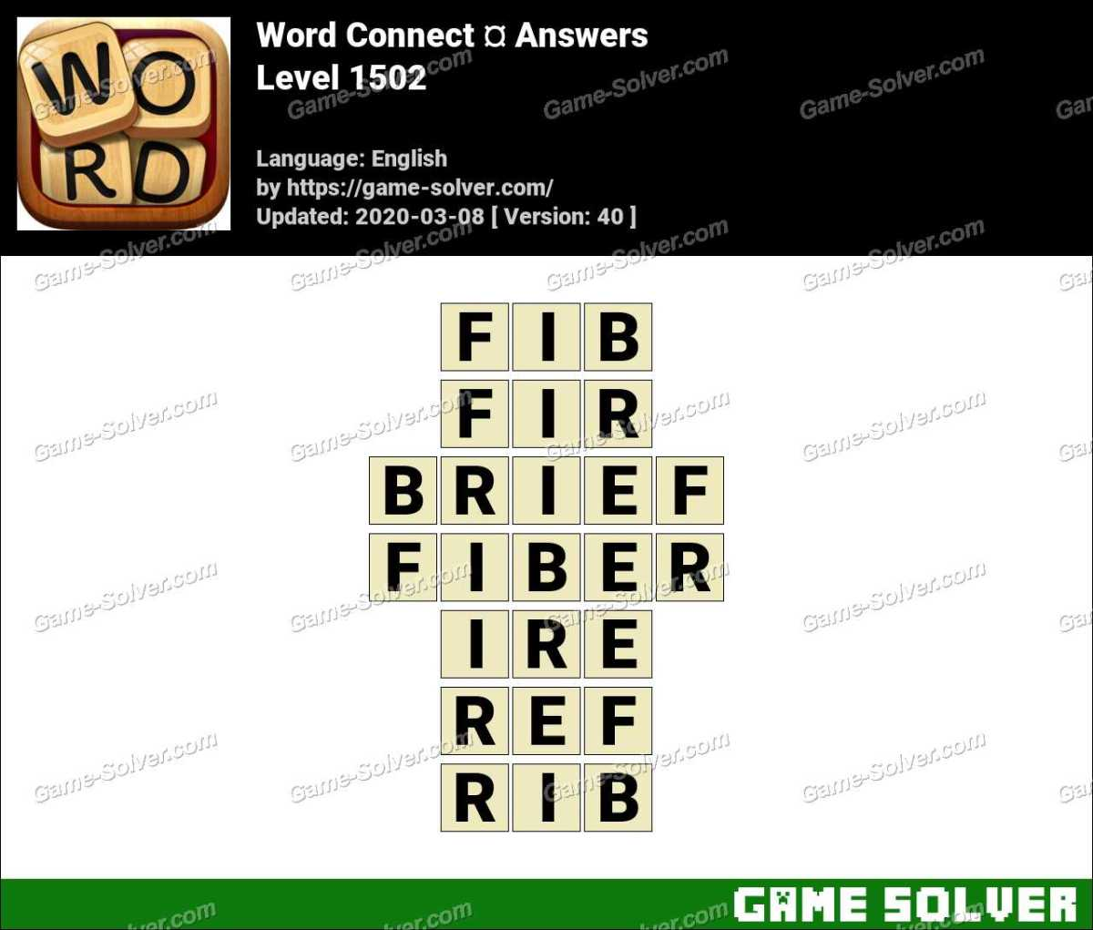 Word Connect Level 1502 Answers