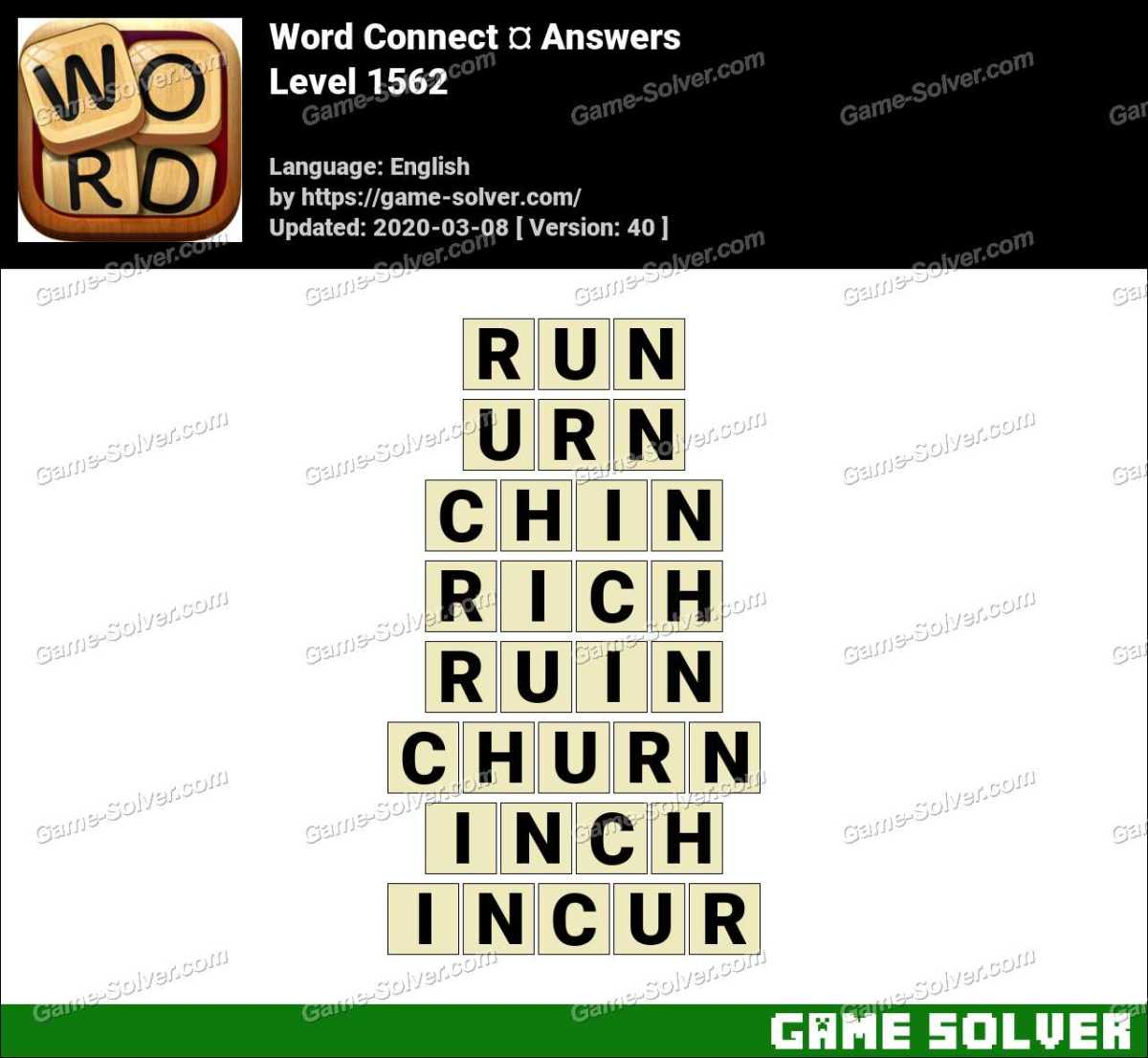 Word Connect Level 1562 Answers