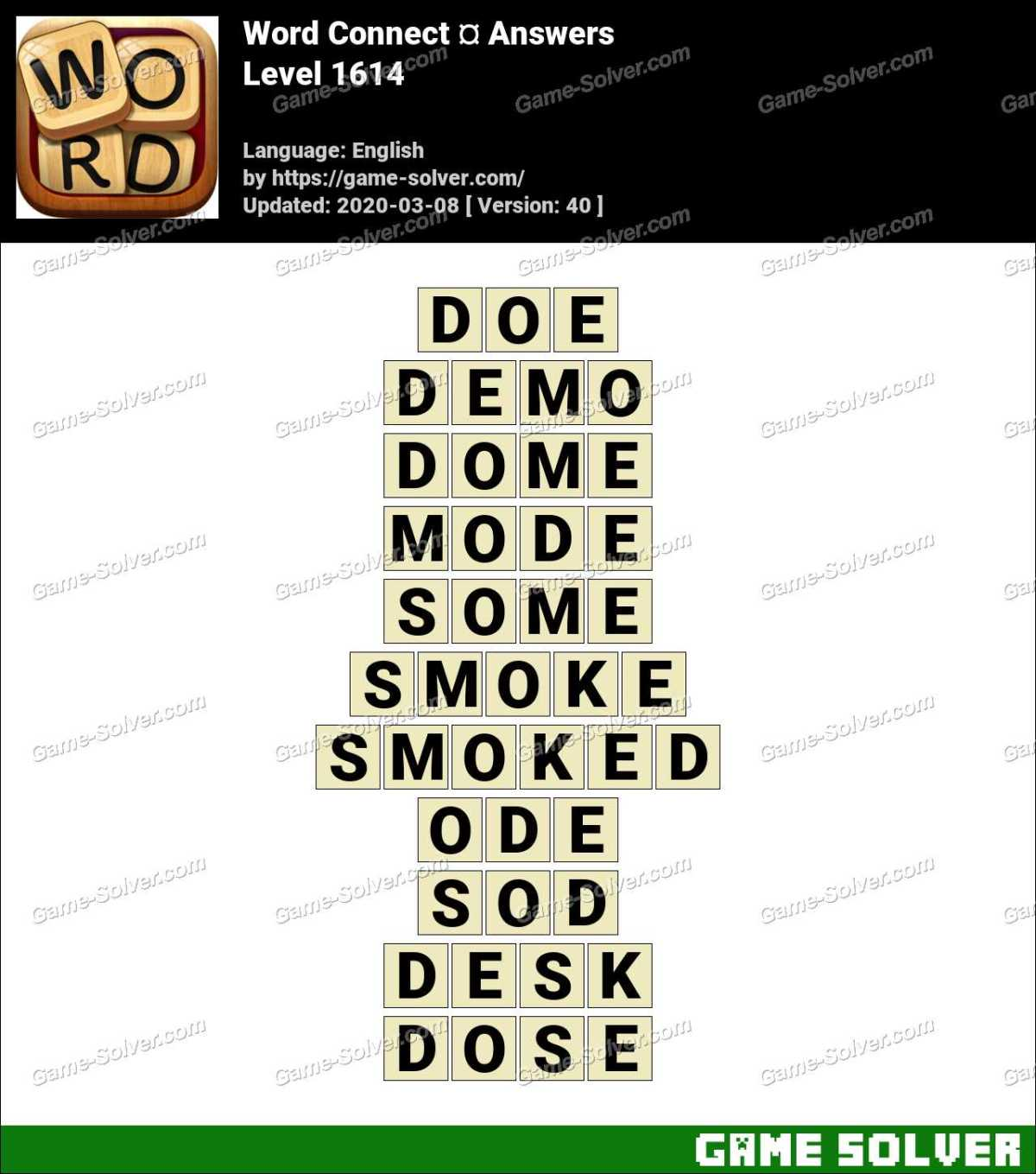 Word Connect Level 1614 Answers