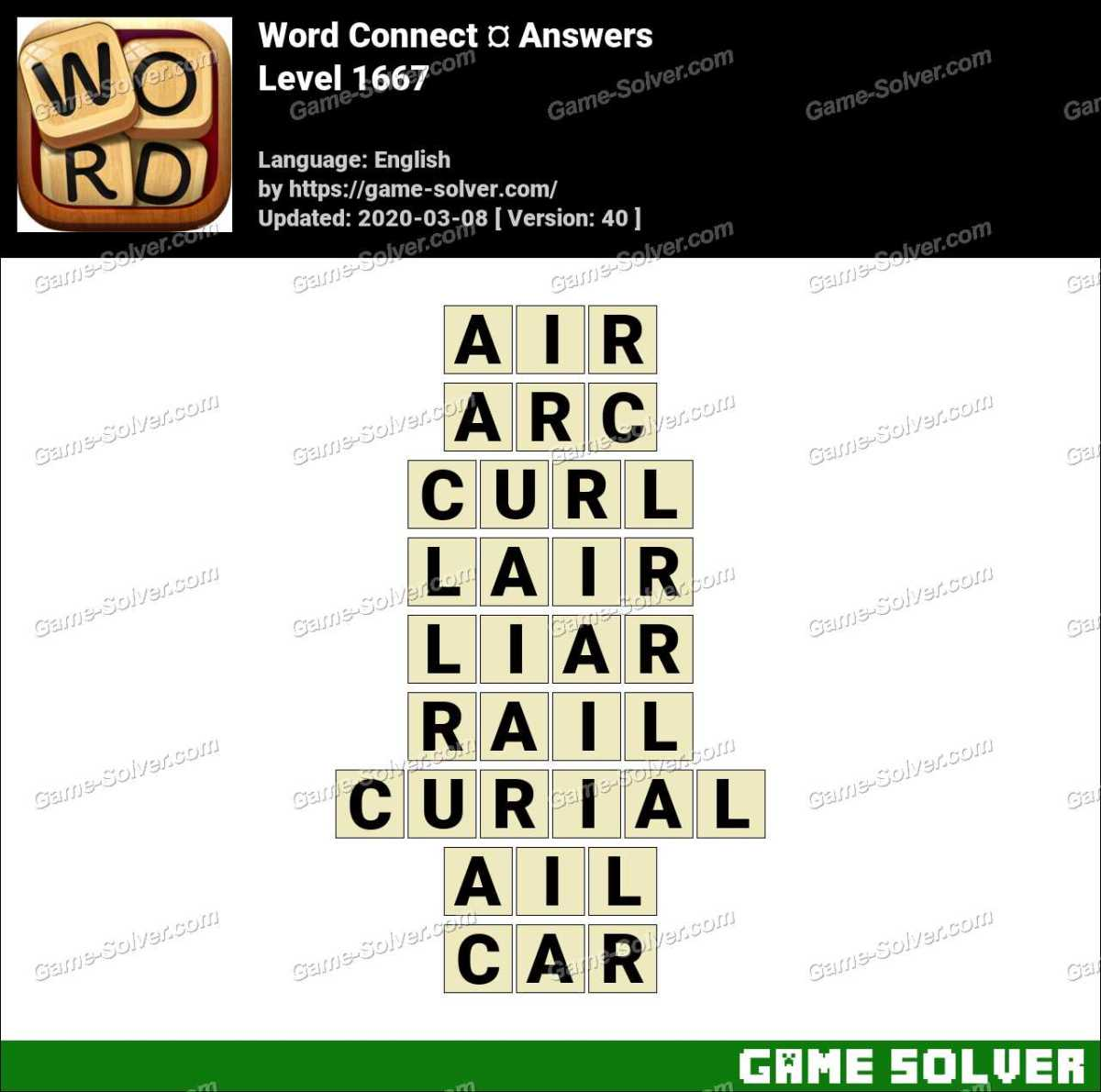 Word Connect Level 1667 Answers