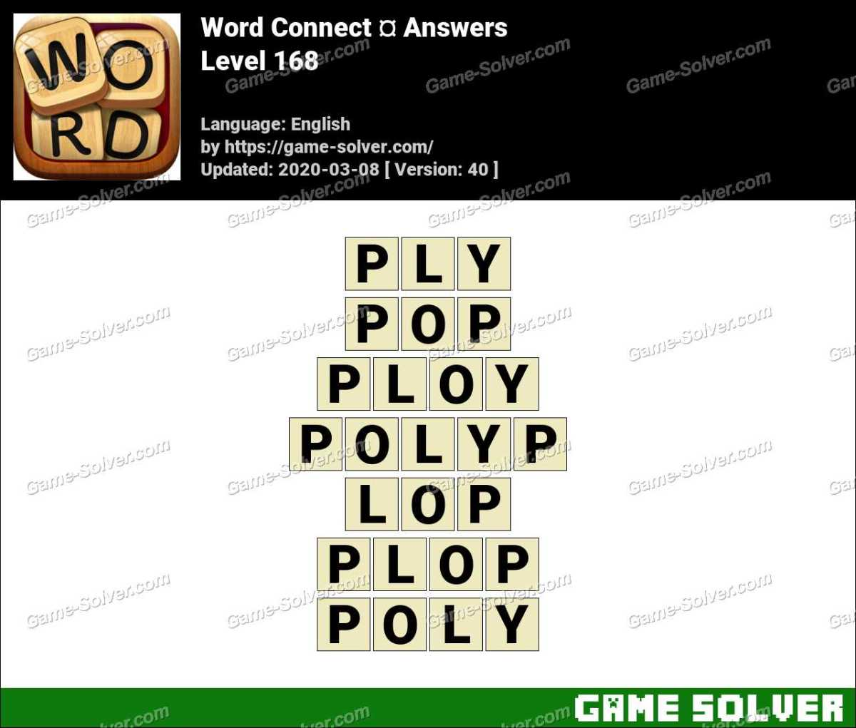 Word Connect Level 168 Answers
