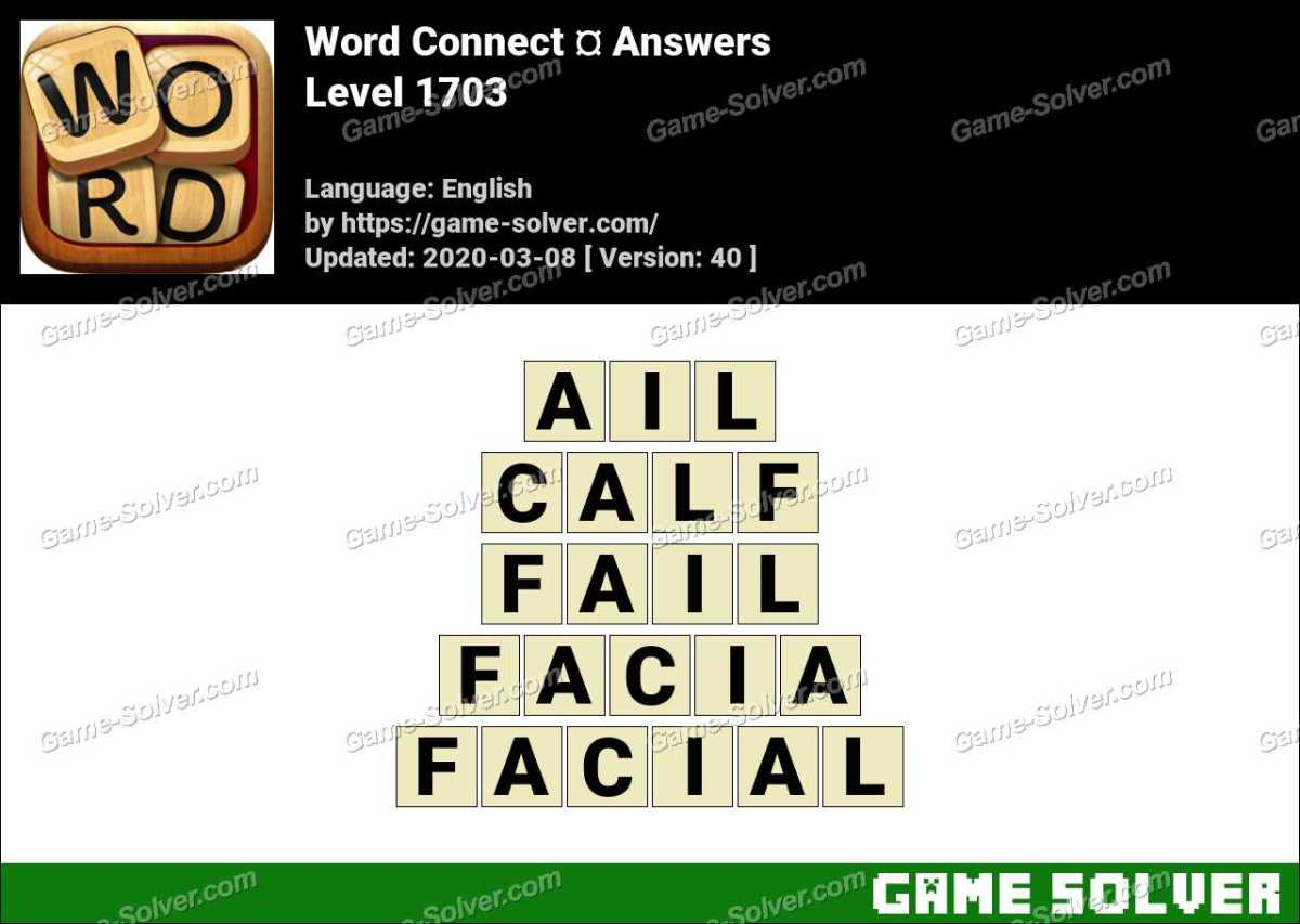 Word Connect Level 1703 Answers