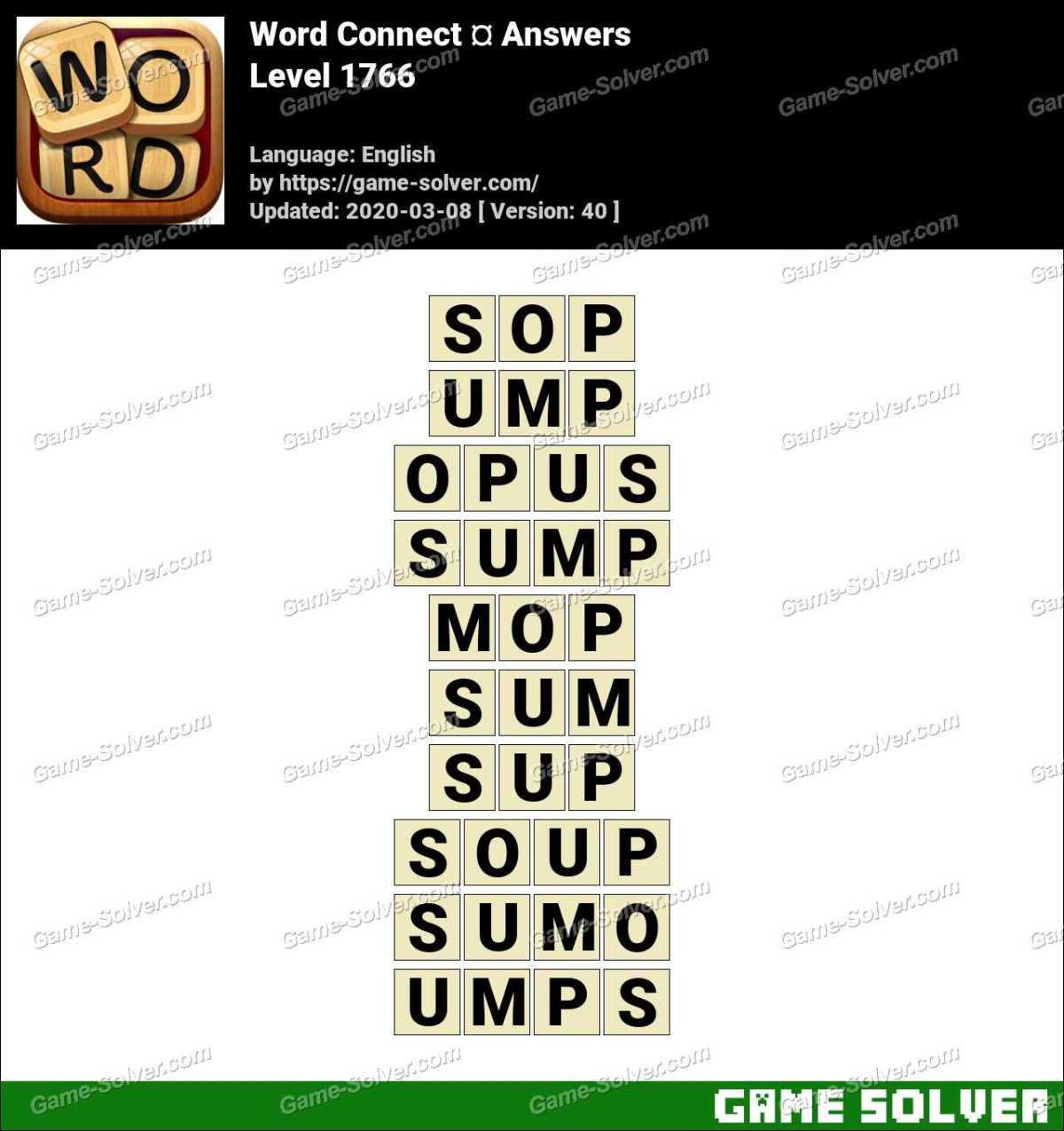 Word Connect Level 1766 Answers