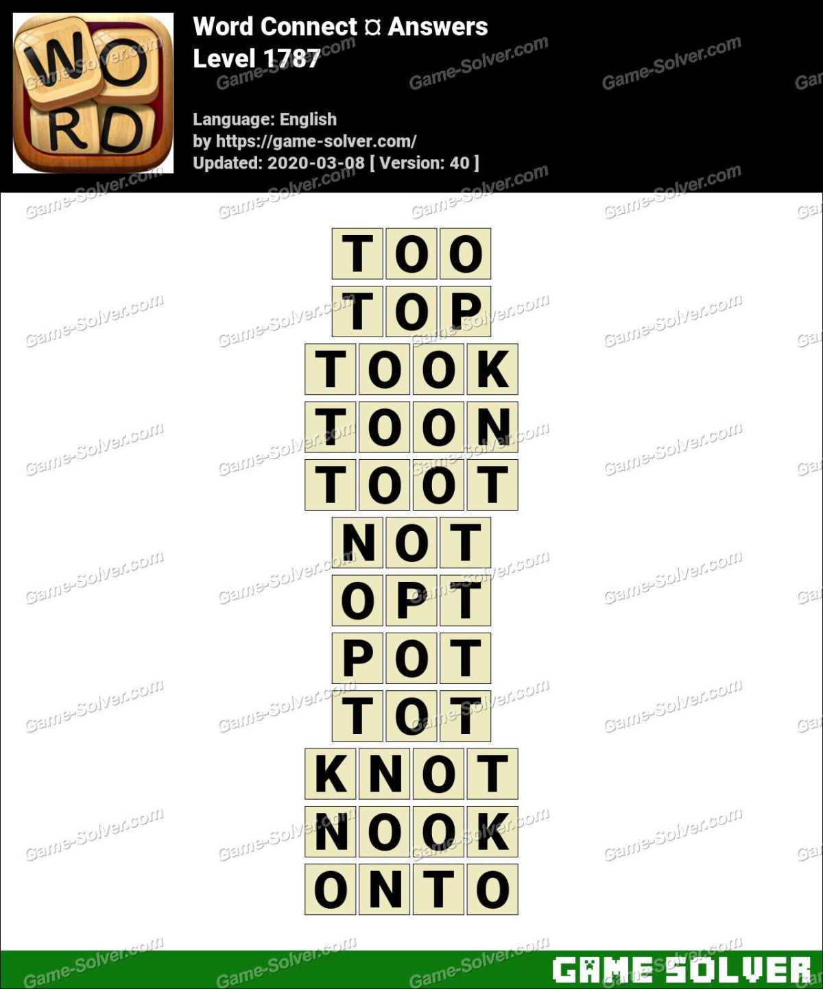 Word Connect Level 1787 Answers