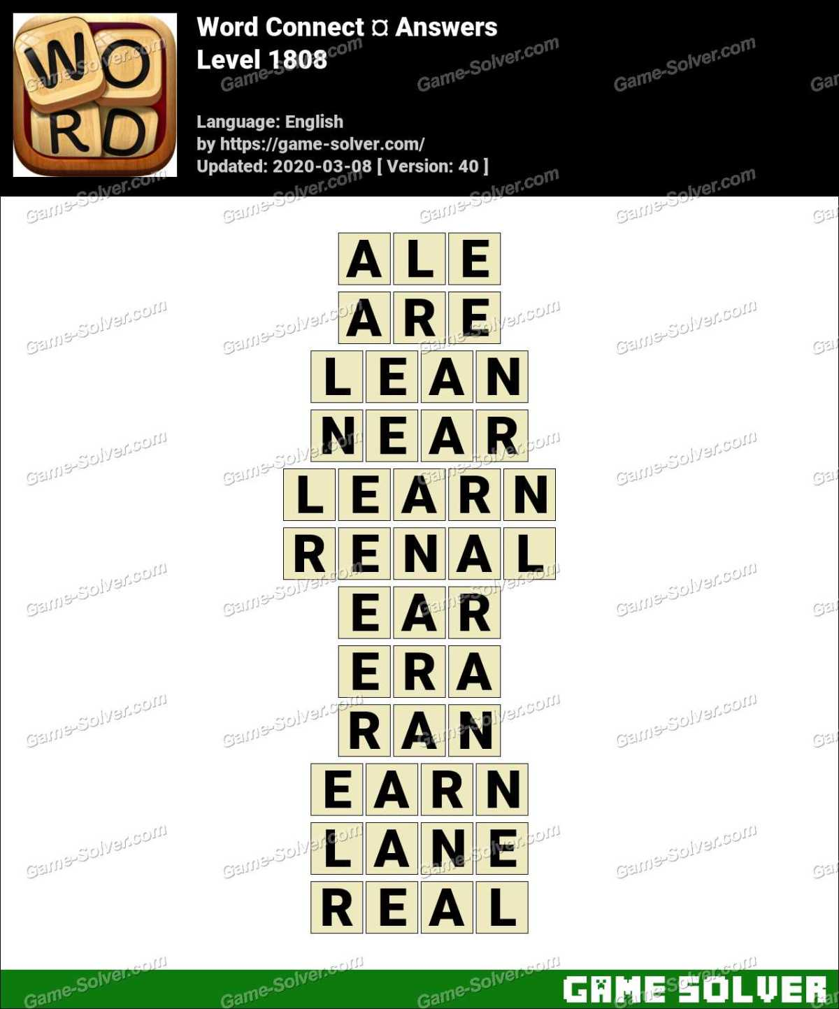 Word Connect Level 1808 Answers