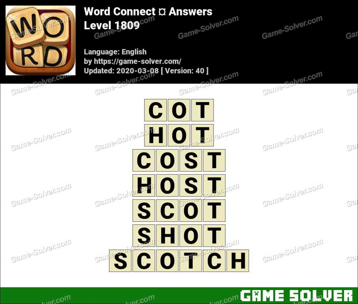 Word Connect Level 1809 Answers