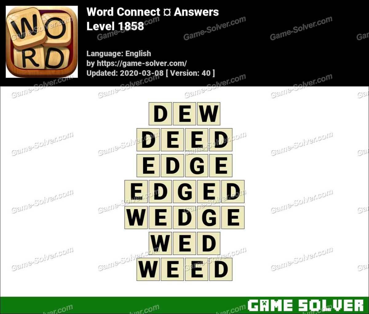 Word Connect Level 1858 Answers