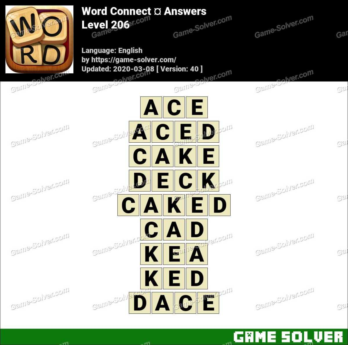 Word Connect Level 206 Answers