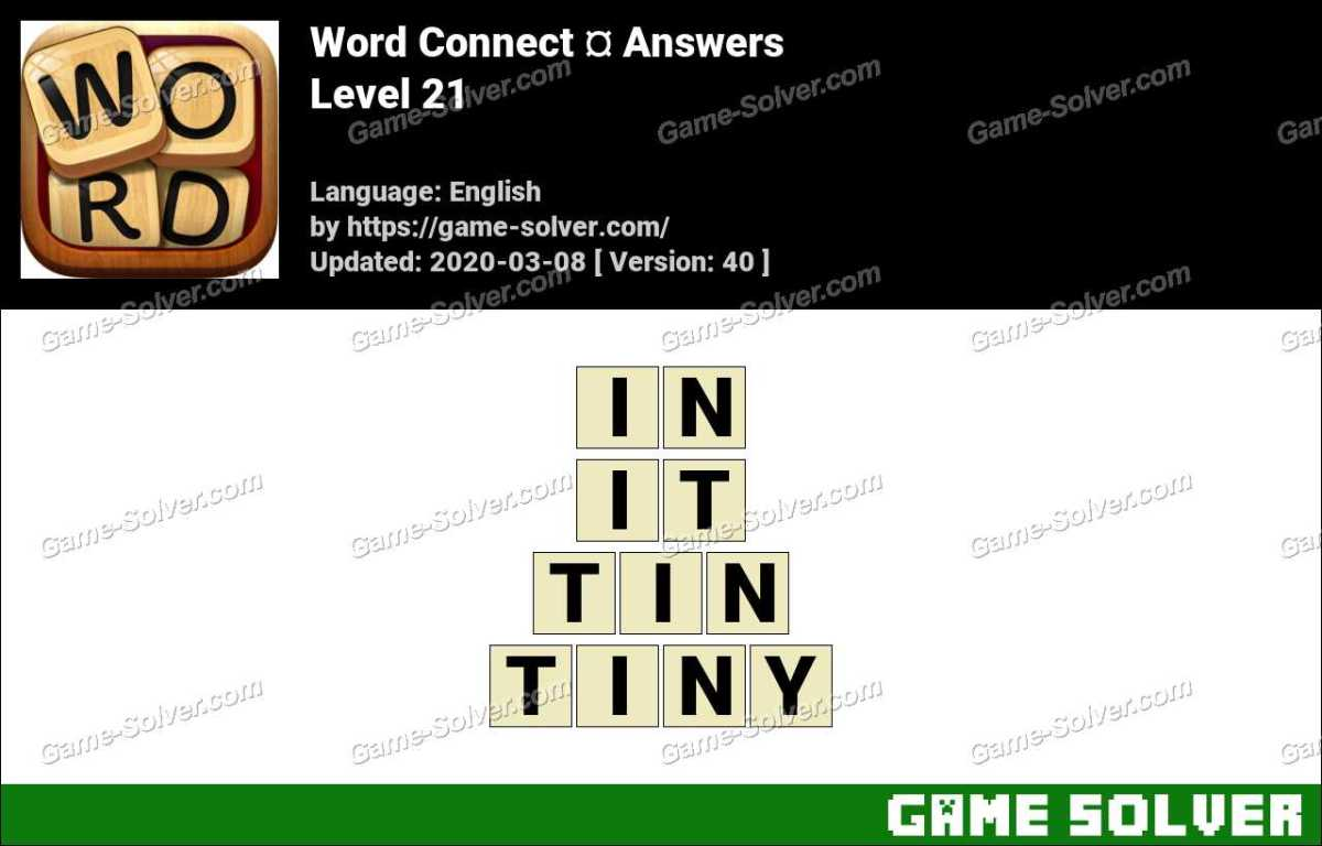 Word Connect Level 21 Answers
