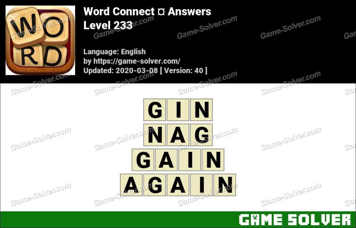 Word Connect Level 233 Answers
