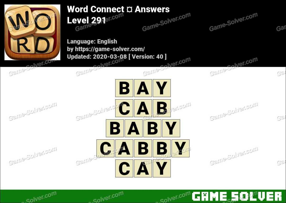 Word Connect Level 291 Answers