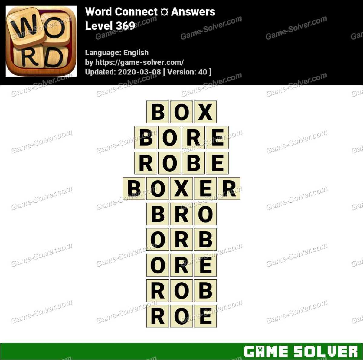 Word Connect Level 369 Answers