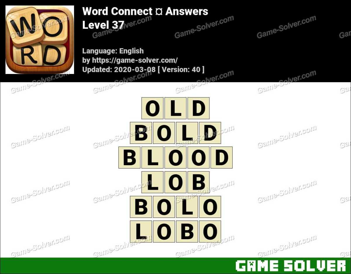Word Connect Level 37 Answers