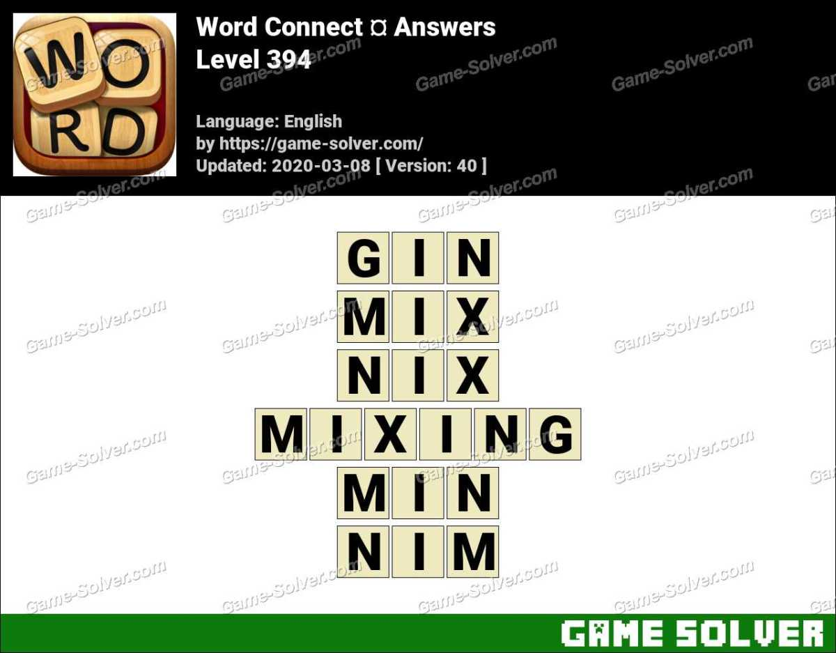 Word Connect Level 394 Answers