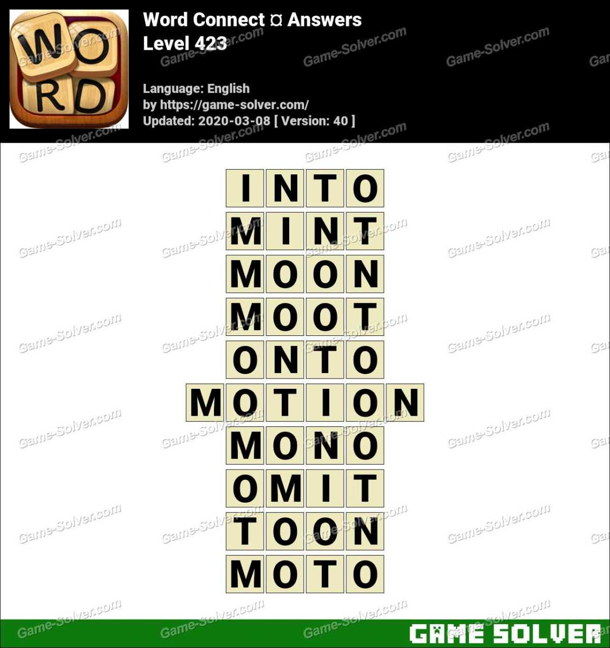 Word Connect Level 423 Answers