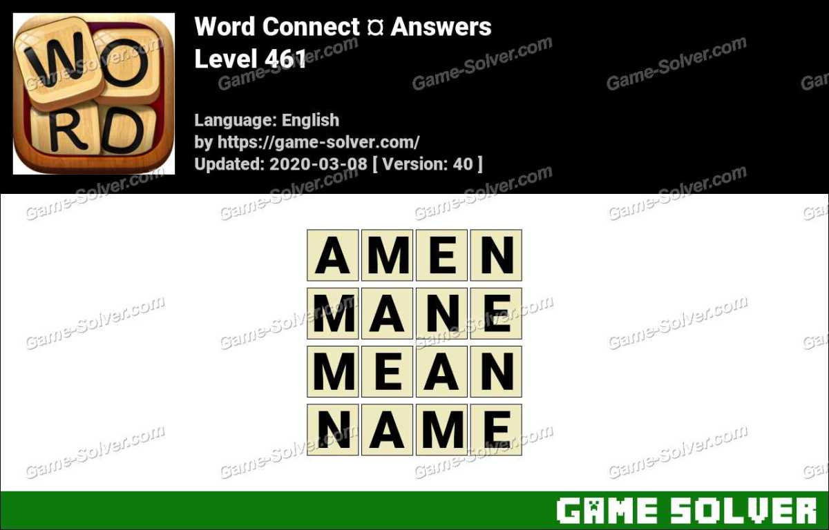 Word Connect Level 461 Answers