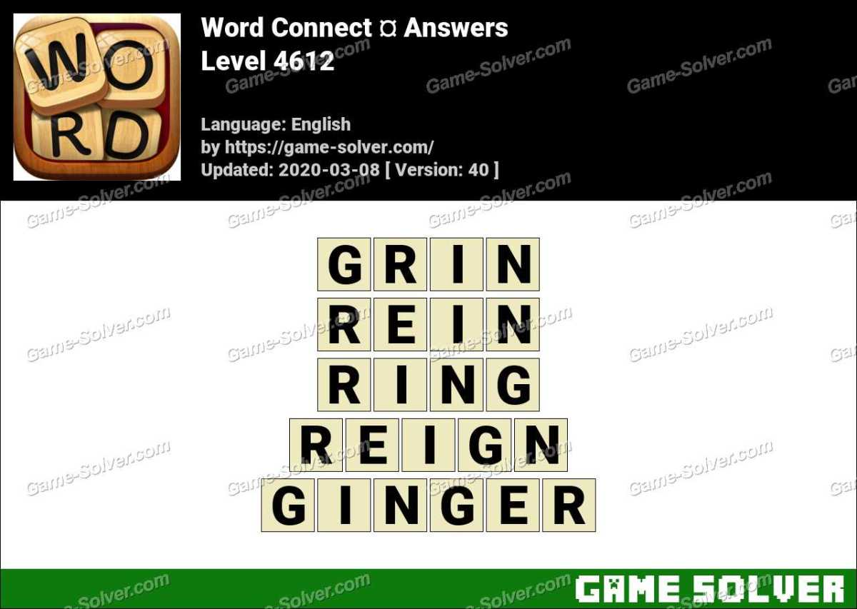 Word Connect Level 4612 Answers