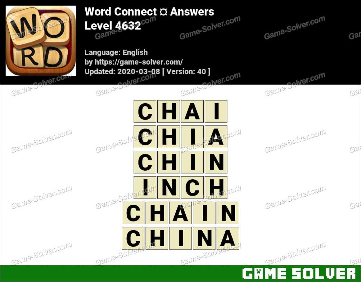Word Connect Level 4632 Answers