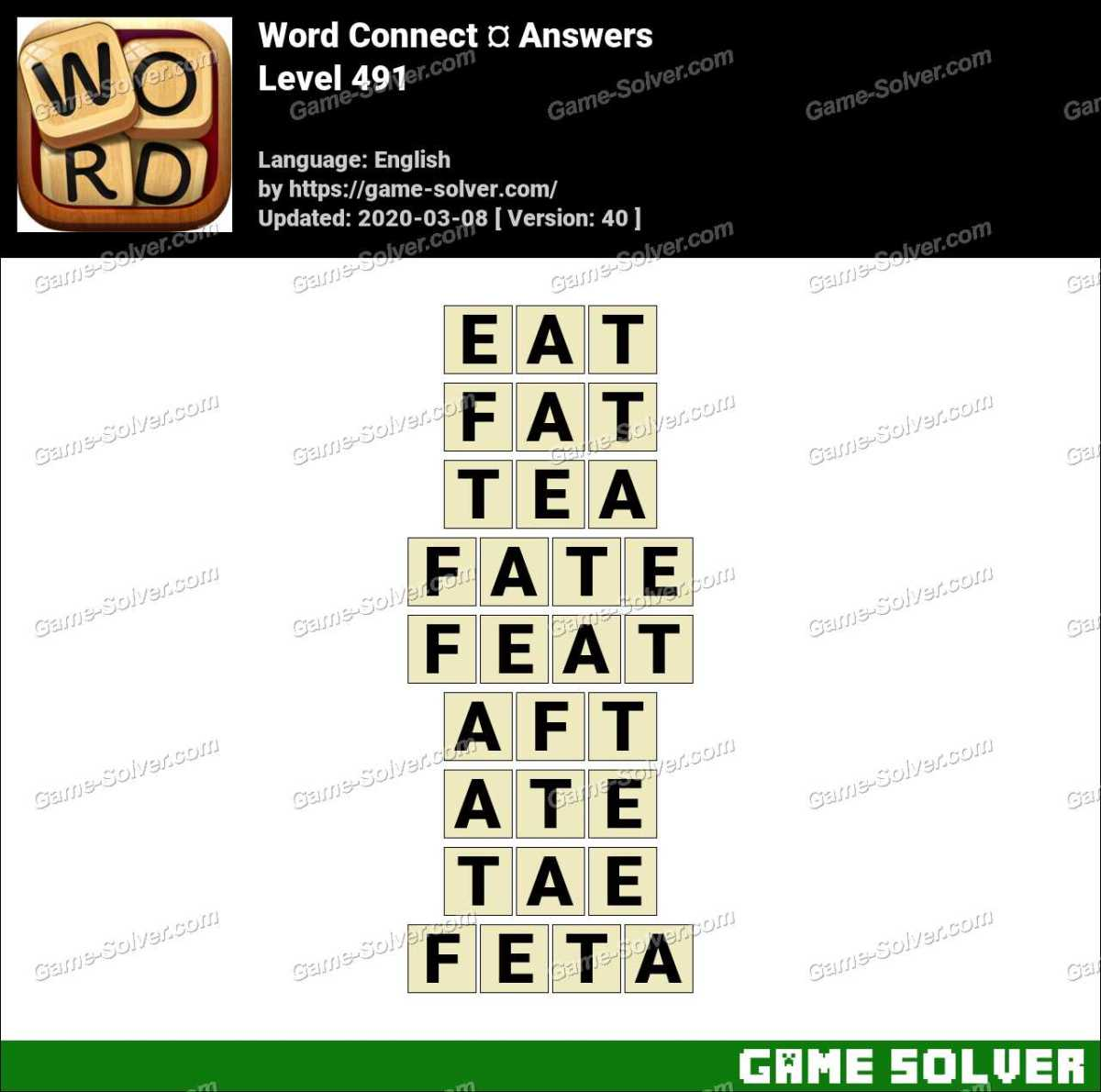 Word Connect Level 491 Answers