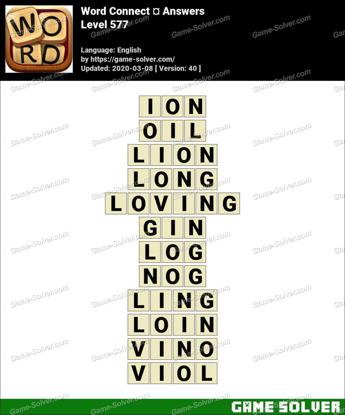 Word Connect Level 577 Answers