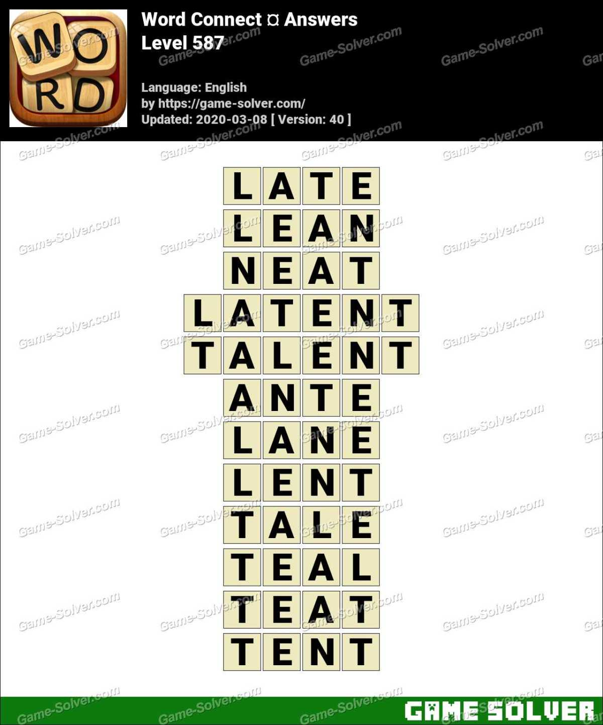Word Connect Level 587 Answers