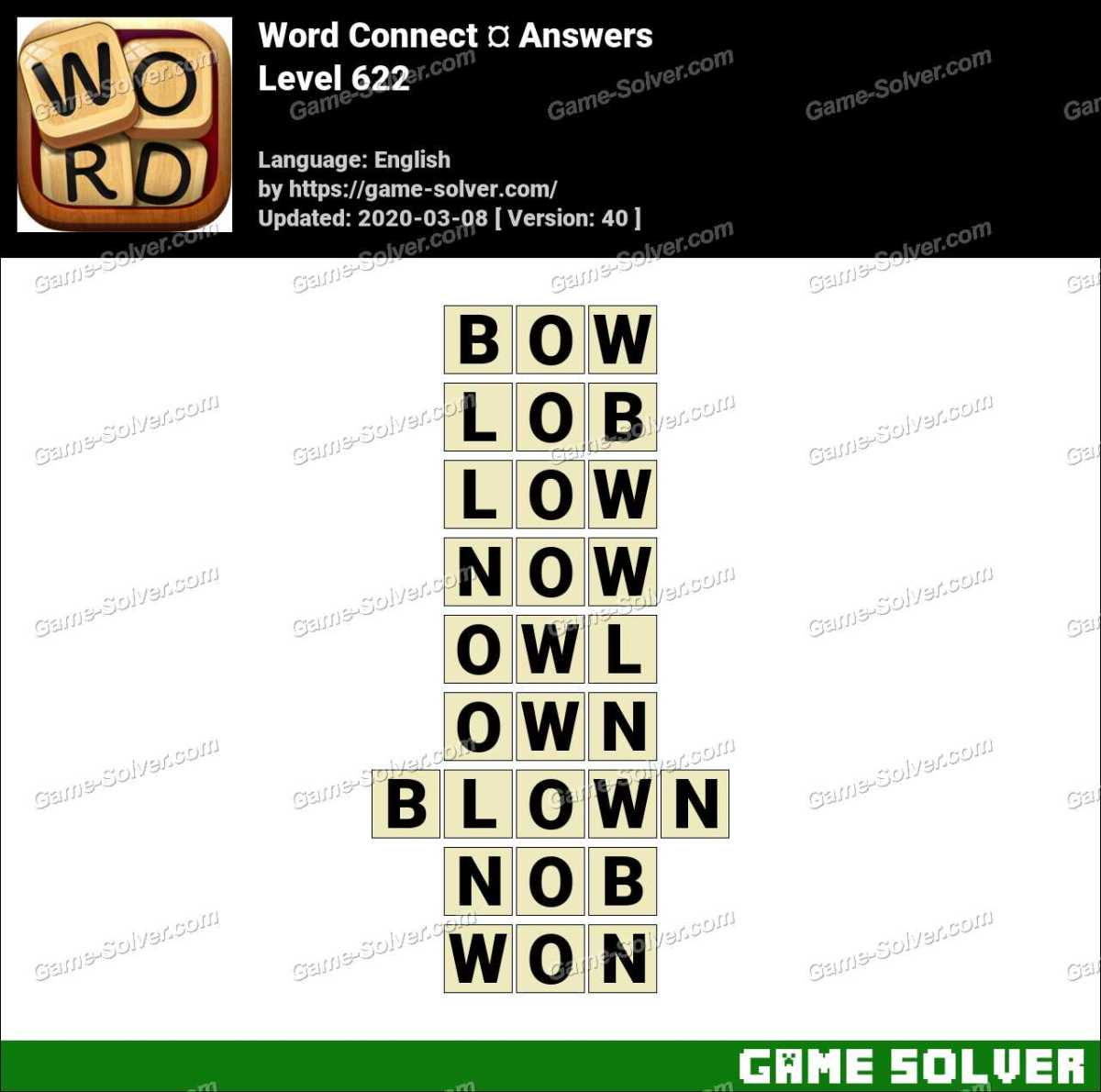 Word Connect Level 622 Answers