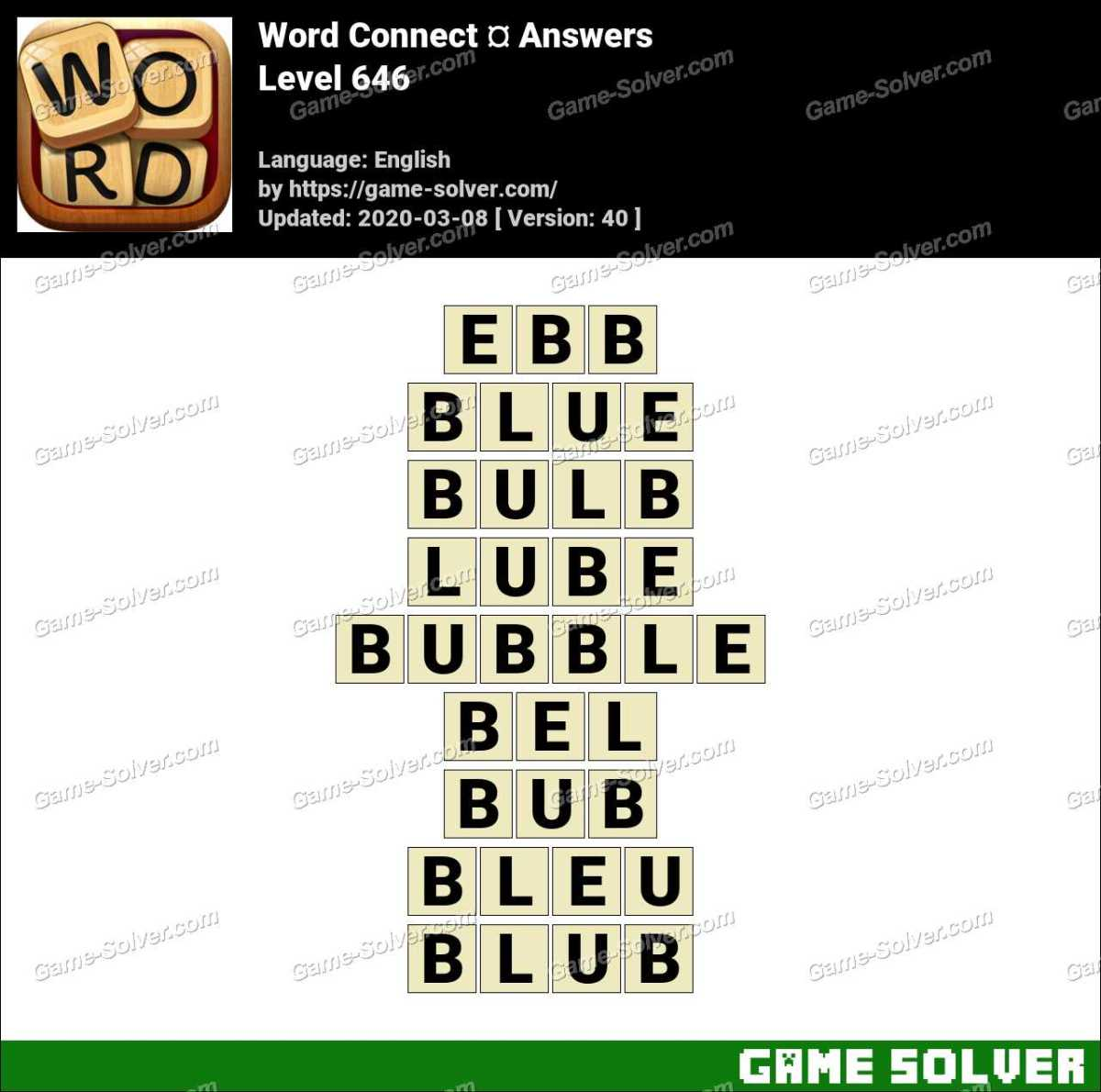 Word Connect Level 646 Answers
