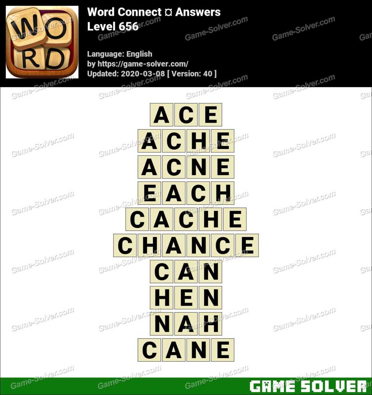 Word Connect Level 656 Answers