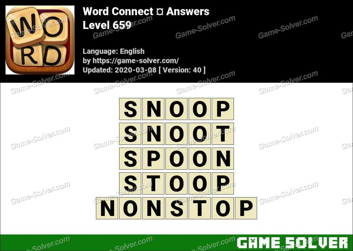 Word Connect Level 659 Answers