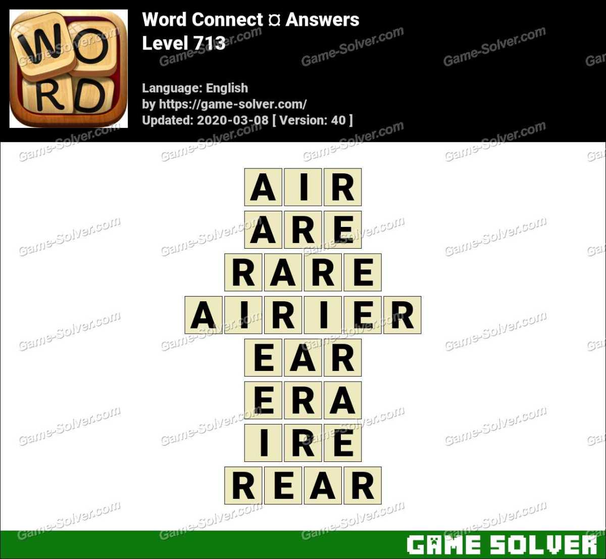 Word Connect Level 713 Answers