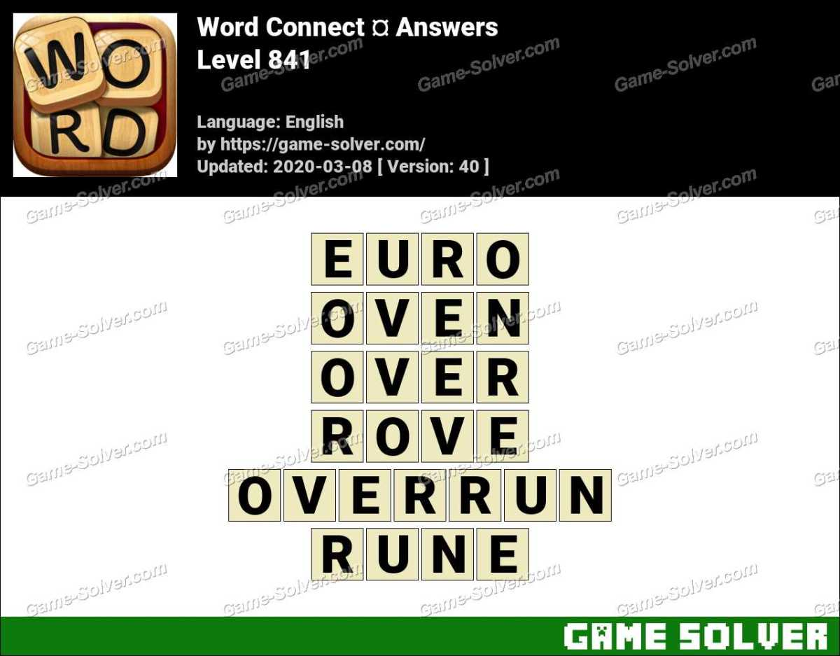 Word Connect Level 841 Answers