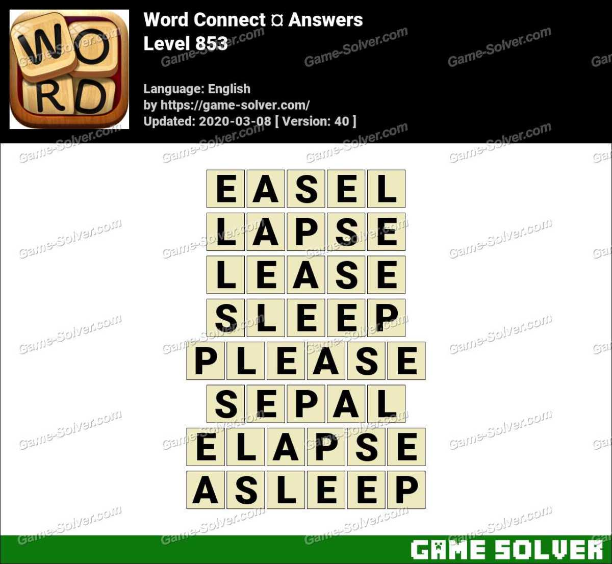 Word Connect Level 853 Answers