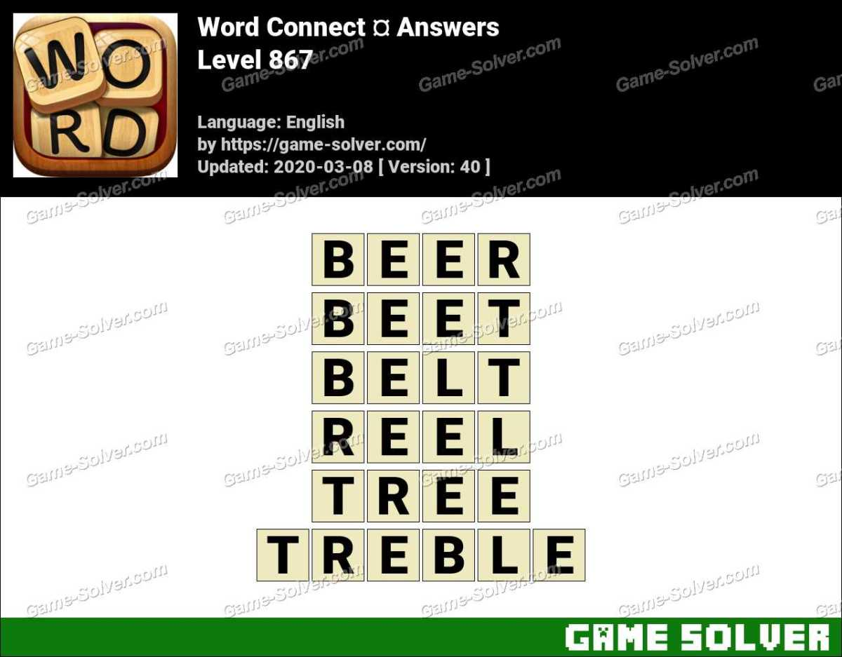 Word Connect Level 867 Answers