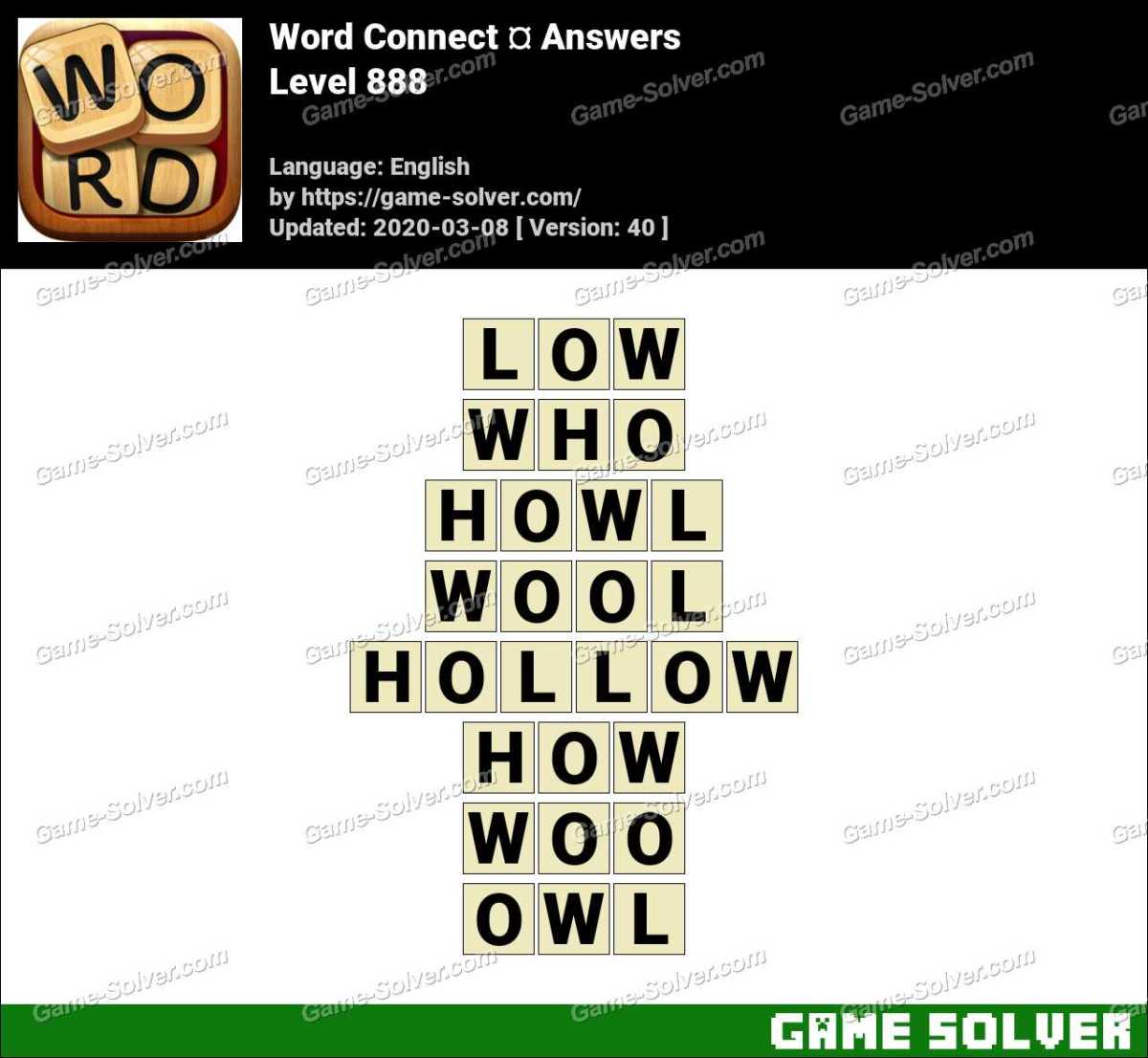 Word Connect Level 888 Answers