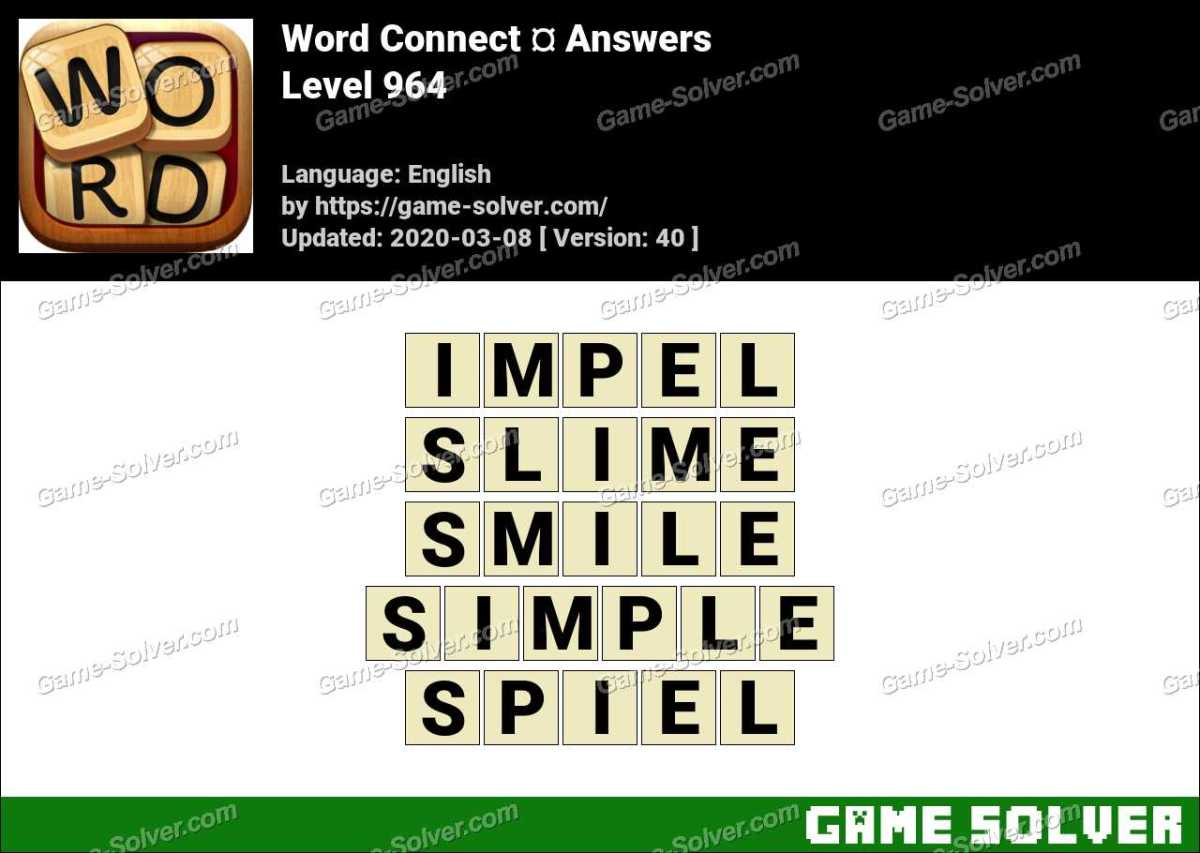 Word Connect Level 964 Answers