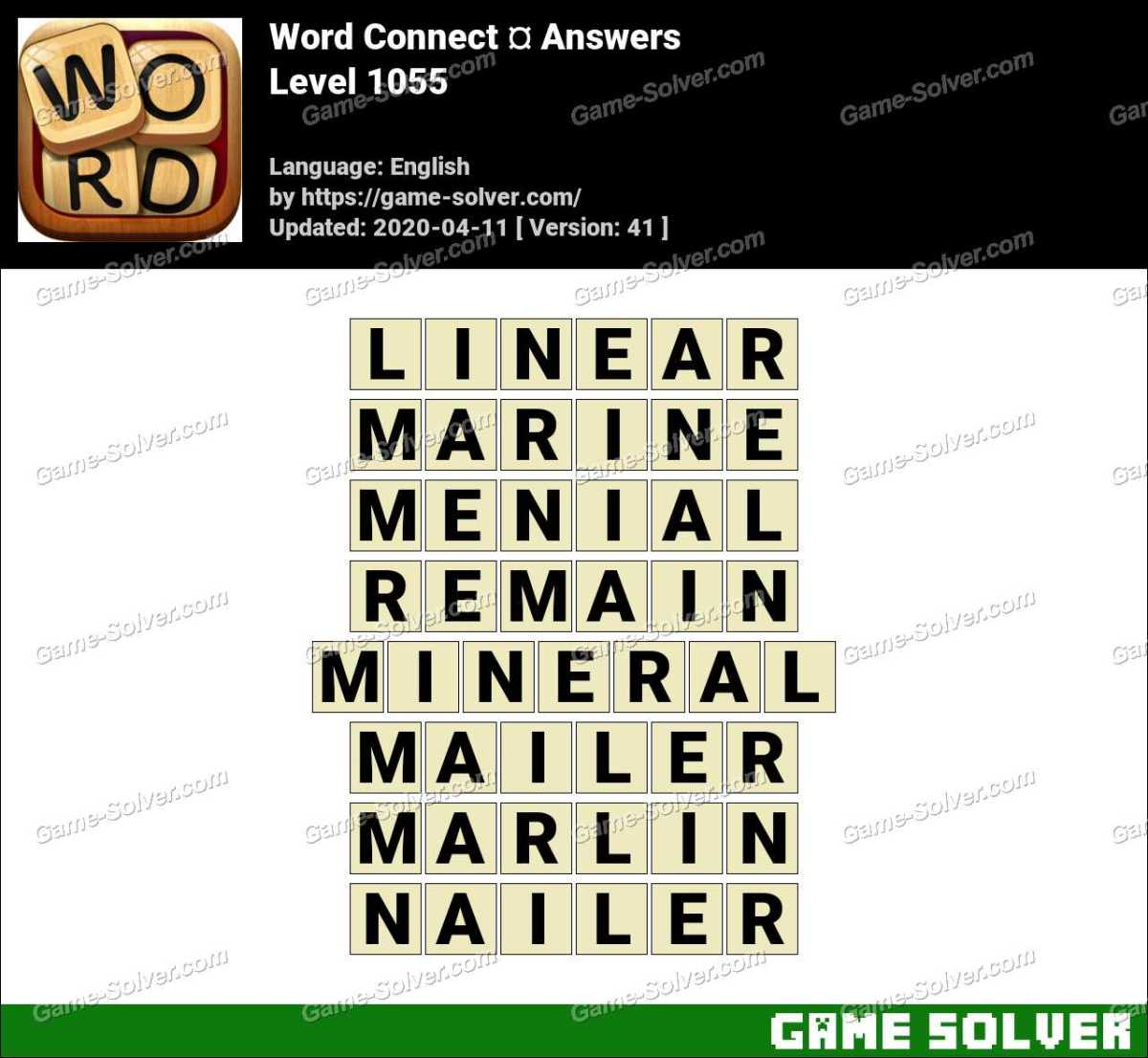 Word Connect Level 1055 Answers