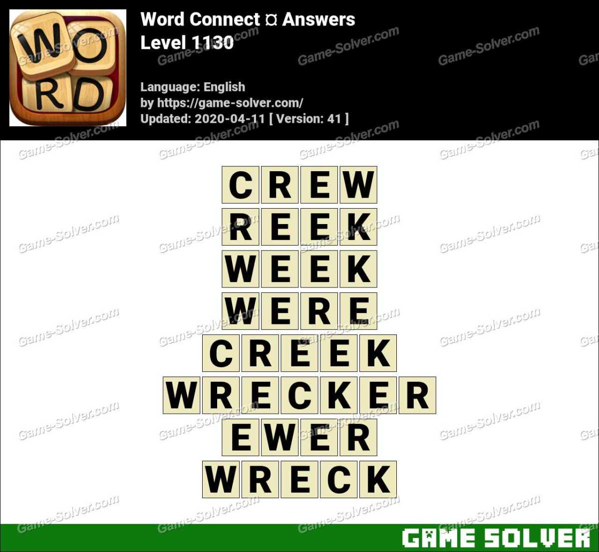 Word Connect Level 1130 Answers