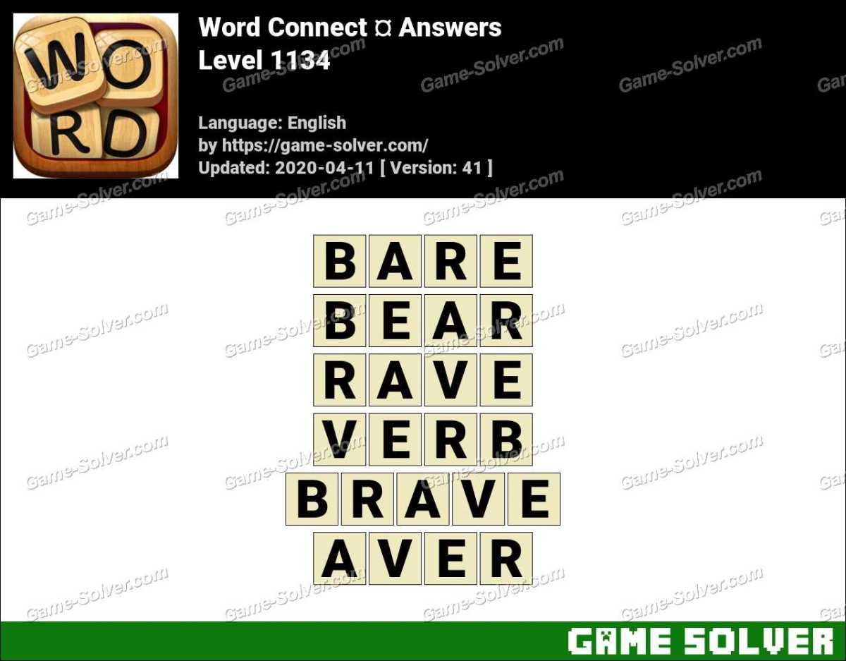 Word Connect Level 1134 Answers