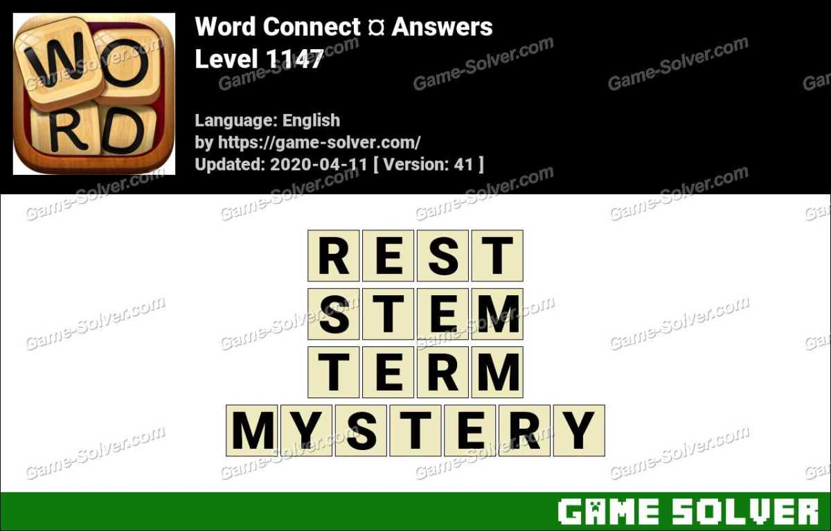 Word Connect Level 1147 Answers